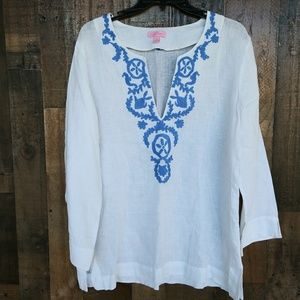 Lilly Pulitzer 100% linen Tunic